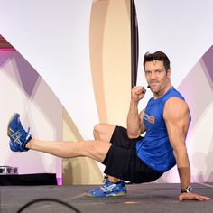 Push your body to the limits with Tony Horton's P90X—an explosive plyo workout that includes jump squats, swing kicks, and squat-reach-jumps.