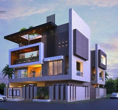 Modern Bungalow Exterior, Modern Exterior House Designs, Dream House Exterior, Modern House Design, Exterior Design, Bungalow House Design, House Front Design, House Elevation, Facade Design