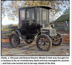The first electric car! It's way ahead of its time but imagine where we would be today if they actually embraced it