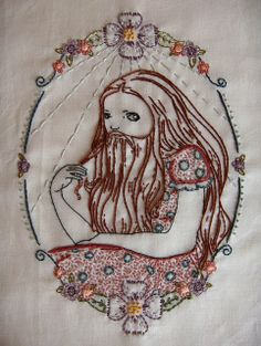 Bearded Lady.  Embroidery pattern by Badbird on Etsy