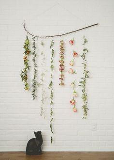Een muur vol bloemen
