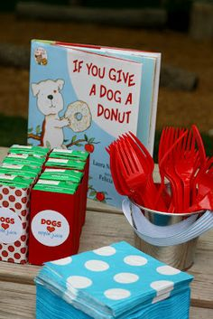 If you give a dog a donut party.this is a kid party, but I'm totally using it for Maximus' birthday in May! Puppy Birthday Parties, Puppy Party, Birthday Fun, Birthday Party Themes, Birthday Ideas, Doggy Birthday, Third Birthday, Princess Birthday, Birthday Celebration
