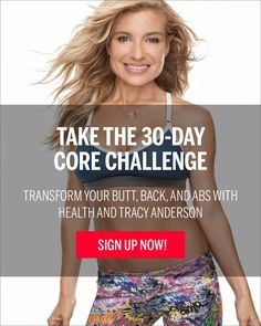 Tracy Anderson's Core Challenge - Fitness - Health Mobile Video Lose 50 Pounds, Losing 10 Pounds, 5 Pounds, Losing Weight, Tracy Anderson, Protein Packed Snacks, High Protein, Core Challenge, Hip Problems