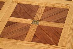 Modular parquet ROMANO (collection La Scala), Dimension: 500*500 mm, Species: oak, steamed acacia, Finishing & treatment: oil-wax, Grade of wood: Select, Nature.