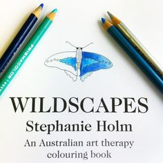 #Colouringin my #Aussie #colouring #book #Wildscapes  The #paper is so lovely & thick & smooth & white