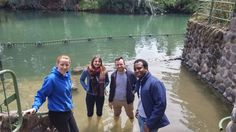 Fam.Grant for the UK touring in with our Tour Guide David Cherny.Picture taken at the Yardenit - Jordan river.