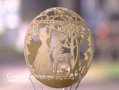 Eggshell Carving Art   Egg carving   Marvelous Art Variety