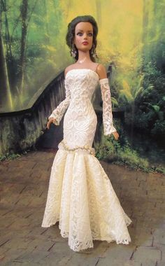 """""""LEMON ICE LACE"""" FASHION GOWN FOR TONNER TYLER & FRIENDS, KINGDOM DOLL & OTHERS"""