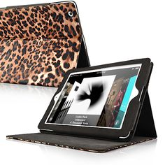 Leopard Pattern Folio Stand Leather Case For The new iPad/iPad 2 - Brown  PriceUS $18.09 Apple Ipad Accessories, Leopard Pattern, New Ipad, Leather Case, Ipad Case, Brown, Leather Pencil Case, Leather Pouch