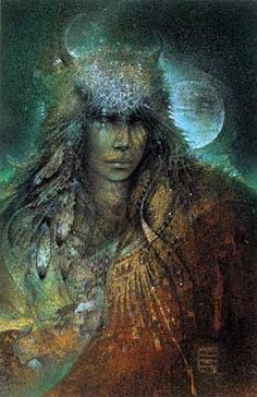 """""""Buffalow Woman"""" by Susan Seddon Boulet, 1991.  One more beautiful than the next.  Her work is just breathtaking."""