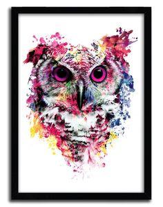 Print Owl by Riza Pekler von KOlintribuShop auf Etsy