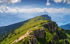 """""""Up the Niederhorn"""" -- #wallpaper by """"Mohsen Kamalzadeh"""" from http://interfacelift.com -- I took this photo from Niederhorn mountain in the Bernese Alps, looking southwest towards the gondola station and Lake Thun. August 2013.  Adobe Camera Raw, Adobe Photoshop CS6. -- Available as #wallpapers in any resolution at: http://interfacelift.com/wallpaper/details/3524/up_the_niederhorn.html"""