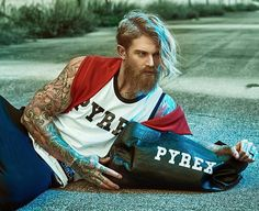ad campaign shot in Italy by Josh Mario John, Beard Head, Beard Lover, Beard Tattoo, Different Dresses, Attractive Men, Haircuts For Men, Beautiful People, Pyrex