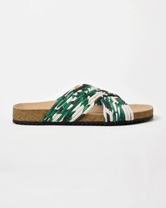 Crossover Cork Sole Sandal