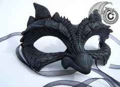 Dark Dragon Face Mask by LisaSell on Etsy