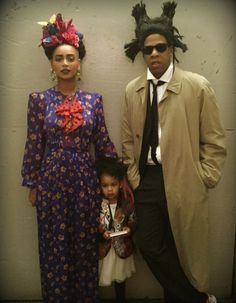 Bey and jay as Frieda Kahlo and jean Michael Basquit