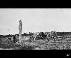 Ferrar, Hartley Travers, d 1932 :Niu pole and Te Miringa Te Kakara meeting house, Tiroa New Zealand, Arch, House, Painting, Outdoor, Memories, Outdoors, Memoirs, Longbow