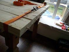 DIY Farmhouse Table :: Hometalk