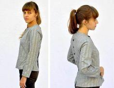 20 OFF SALE C h i n e s e Blouse Shirt Top Tunic by KarniKadan, $112.00