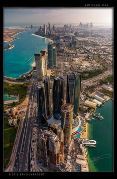 Abu Dhabi skyline #travel #vacation