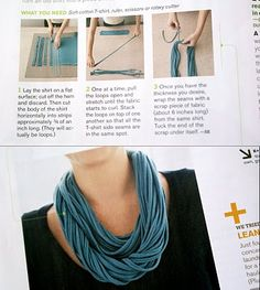 the design pocket: super easy diy: recycled t-shirt necklace