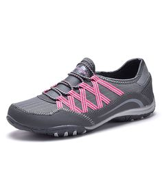 Take a look at this Dream Seek Gray & Pink Slip-On Sneaker today!