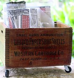 Try It Tuesday~Ammo Box re-purpose!!