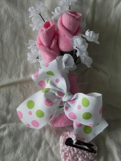 Mommy to Be Corsage Baby Shower Sock Rose