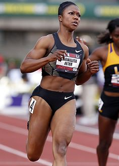 Image detail for -EUGENE, Ore. -- Awash in late afternoon sunshine on the third day of summer, Carmelita Jeter exploded from a set of starting blocks Thursday and tore across 100 ...