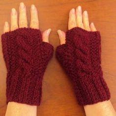Resultado de imagem para guantes tejidos dos agujas