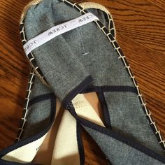 NWOT J crew chambray slip ons J Crew slip ons!  Chambray and navy. Perfect for summer! J. Crew Shoes Espadrilles