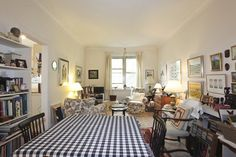 Apartment for sale in Westmount Montréal. looks incredibly crammed but maybe thats just because of all the stuff in it?