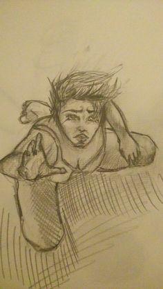 Sadness, pencil sketch on paper