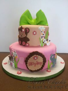 A super cute jungle animal baby shower cake for baby Haley. Congratulations Jeanette!