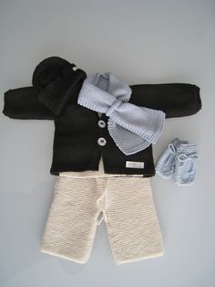 eco merino chunky pants, cardigan, beanie, scarf and mittens
