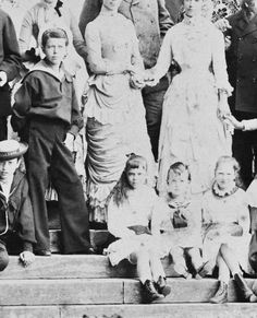 """hrhawesome: """" Group photo of members of the Russian and Danish royal families, including Tsarevich Nicholas II, Grand Duchess Xenia and Grand Duke Michael. """""""