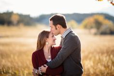 Autumn Engagement Photos near Boulder, Colorado Jason+Gina Wedding Photographers http://www.jason-gina.com
