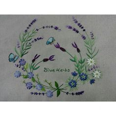 Herb Embroidery, Flower Embroidery Designs, Embroidery Motifs, Japanese Embroidery, Embroidery Fashion, Beaded Embroidery, Cross Stitch Embroidery, Cross Stitch Flowers, Couture