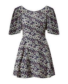 Madam Rage Purple Daisy Print V Back Dress | New Look