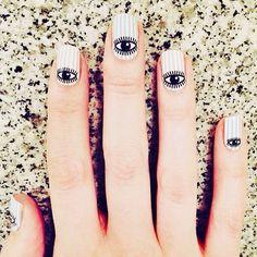 Eye #nails #beauty