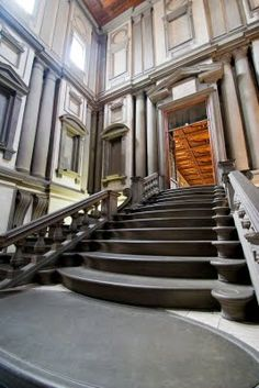Spilling Steps in the Laurentian Library (Michelangelo)