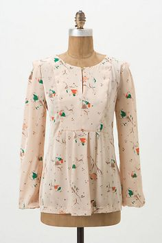 Scattered Buttercups Blouse #anthropologie