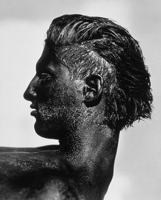 "Exhibition: 'Herb Ritts' at the Museum of Fine Arts, Boston. ""Another artist lost too soon to HIV/AIDS."" http://artblart.com/2015/11/02/exhibition-herb-ritts-at-the-museum-of-fine-arts-boston/ Photo: Herb Ritts (American, 1952-2002) 'Tony with Black Face, Profile, Los Angeles' 1986"