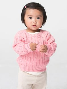 Infant Cable Knit Sweater | Babies | Kids & Babies' Sweatshirts & Outerwear | American Apparel