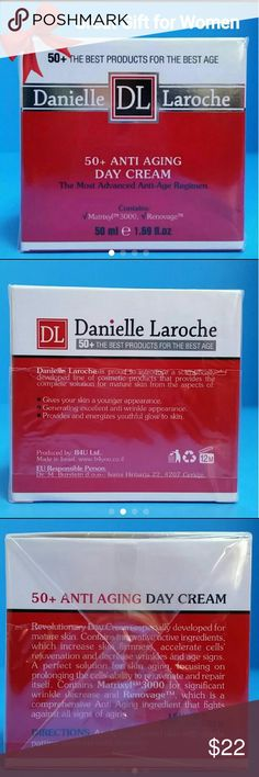 Anti-Aging Day Cream for for 50+ Great Gift for You or Someone you care!               Brand New / Sealed Box.                                          The Best Products for the Best Age!   Danielle Laroche DL  50+ Anti-Aging Day Cream.  The Most Advanced Anti-Age Regimen. Contains Matrixyl 3000 and Renovage.  50 ml / 1.69 fl.oz.                                 SPA PRICE $49. Makeup