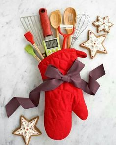 Baking gift idea. Great for the cook who has everything. You can always use utensils.