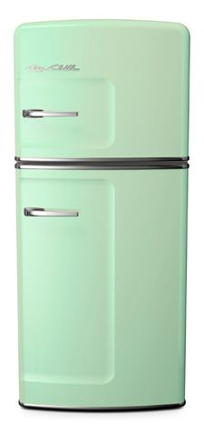 Brand new fridge, but 1950's style! Want!                              …