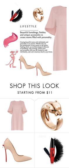 """""""pink panther"""" by sblabla ❤ liked on Polyvore featuring Valentino and Casadei"""