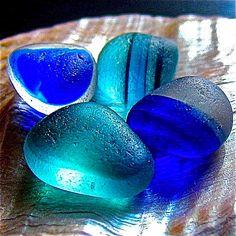 Sparkling blues.