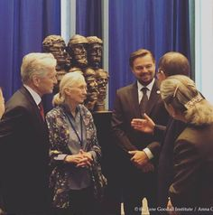 I'm at the UN today to observe #PeaceDay and support #GlobalGoals. I'm inspired by how far we have come in the fight against #climatechange and I'm optimistic that we can alter the course of our planet's history before it's too late.  #Regram #RG Dr. Jane Goodall: This is a #dreamteam of United Nations Messengers of Peace!Leonardo DiCaprio and #michaeldouglas represent initiatives to stop climate change and disarm nuclear weapons, respectively, and met with Dr. Jane Goodall to move us all to…